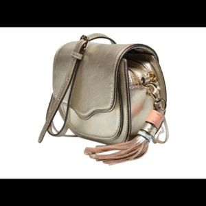 Rebecca Minkoff Suki Gold Leather Crossbody
